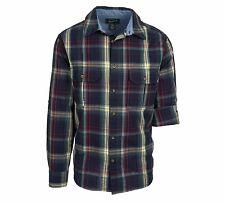 NEW Woolrich Men's XL Collar Shirt Midway Yarn-Dye Long Sleeve Deep Indigo