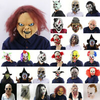 Halloween Scary Horror Mask Zombie Bloody Clown Evil Latex Fancy Costume Cosplay