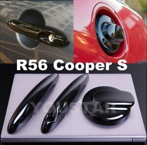 AU STOCK GLOSS BLACK Petrol Gas Cap & Door Handle Covers for MINI R56 Cooper S