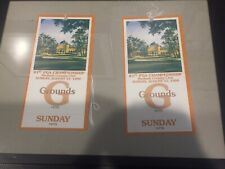 Two Sunday Tickets from the 1999 PGA Championship at Medinah (Tiger's First PGA)
