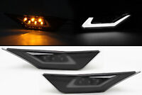 Dual Function DRL +  LED Side Marker Light For 16-20 Honda Civic Type-R - Smoke