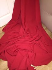 "25 MTR ROLL OF RED 100% POLYESTER LINING FABRIC...45"" WIDE £40"