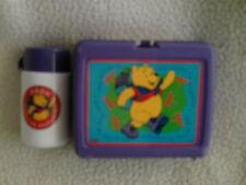 Disney Winnie The Pooh Lunch Box w/ Twist LidThermos100 Acres lunchtimePlastic