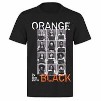 ORANGE IS THE NEW BLACK FULL CAST LINE UP PH158 UNISEX BLACK T-SHIRT