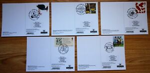 2012 - 2017 VARIOUS REAR FDI HANDSTAMED PHQ CARDS AS LISTED