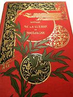 1895 BOURGOGNE JOLI CARTONNAGE LIVRE HIST GUERRE 1870 DRAGONS CHASSEUR MILITARIA