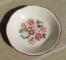 Ancienne Assiette Porcelaine Gien France More  Décor Motif Bouquet Fleur