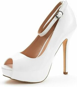 Womens High Heel Pumps Sexy Peep Toe Stilettos Platform Party Dress Pump Shoes
