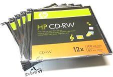 HP CD-RW CDRW Logo  ReWritable 12X Blank Disc 700MB in Slim Jewel Case 5 Pieces