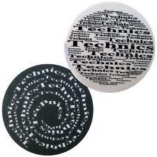 Slipmats Technics - Spirale Broadway Nero/Bianco ( 1 paio / 1 COPPIA) 0020101816
