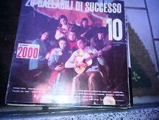 "LP 12"" 20 BALLABILI DI SUCCESSO SERIE NIAGARA 10 COMPL. TEEN AGERS M. BATTAINI"