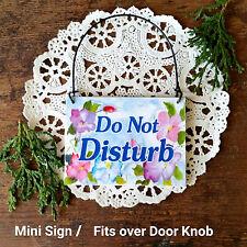 Doorknob Sign * Do Not Disturb Ornament Shabby Cottage Exclusive Decowords  USA