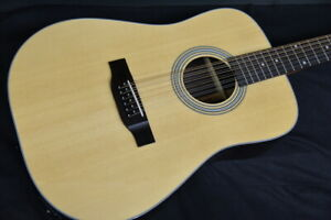 Aria Ad-215/12 12-String Electric Acoustic Guitar