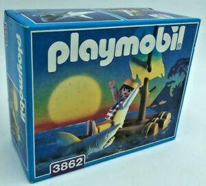 playmobil 3862 Pirat mit Floß und Hai NEU OVP selten Sammlerstück 1996