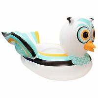 Swimline 90721M Swimming Pool Lake Giant Rideable Owl Inflatable Float, White