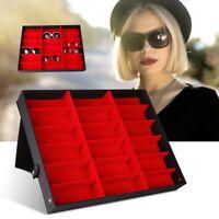 18 Slots Eyeglass Sunglasses Glasses Storage Display Case Organizer Box Holder