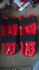 Tekno Shin Pads For Sparring (Red) Adult Large