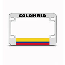 Metal Bike License Plate Frame Colombias Style A Motorcycle Accessories Chrome