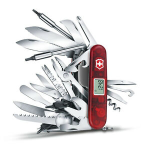 Victorinox - Couteau Suisse Swisschamp XAVT Rubis 80 Fonctions - 1.6795.XAVT