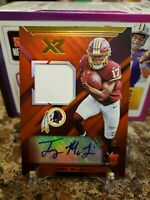 🔥TERRY MCLAURIN XR ROOKIE 2 COLOR PLAYER WORN PATCH AUTO /25 REDSKINS OHIO ST🔥
