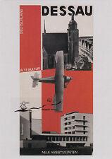 Kunstkarte: Herbert Bayer - Dessau, alte Kunst, neue Arbeitsstätten, Druck