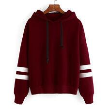 frauen lange ärmel kapuzenpulli sweatshirt springer vermummte pullover tops
