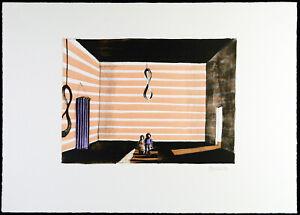 """Hannah und Joseph"" 1992. Farblithographie Thomas HUBER (*1955 SUI) handsigniert"