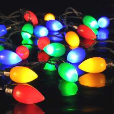 PARTY Lichterkette bunt OUTDOOR 25x LED 9,8m Tropfenform Pavillon Partyzelt