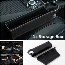 1Pcs PU Leather Car Seat Crevice Storage Box Drink Holder Gap Filler Accessories