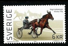 Sweden 2011  Equestrian sport; harness racing. 4-sided perforation. F2850.  MNH