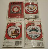 The New Berlin Co Home Christmas Ornament Counted Cross Stitch Kits Lot of 4