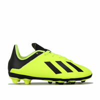 adidas Junior Boys X 18.4 Firm Ground Football Boots in yellow black