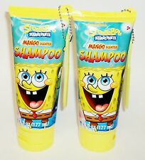 2 SPONGEBOB SQUAREPANTS Mango Scented Shampoo 6 fl oz each W/ Mini Comb