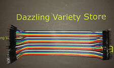 40x Cable Rainbow Wire Male to Male Dupont PCB Computer DIY Connector 200mm 20cm