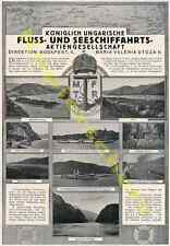 Orig. Advertising Wiener partly Danube Hungary Mftr Budapest Luxury Yacht 1917!