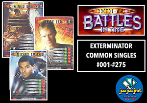 Dr Doctor Who Battles in Time Cards - EXTERMINATOR Common Singles - RESTOCKED