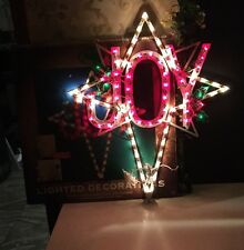 "Enchanted Forest  23"" Christmas Lighted Window Decoration Display Joy Star"