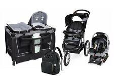 Baby Stroller Travel System with Car Seat Playard Nursery Infant Diaper Bag Set