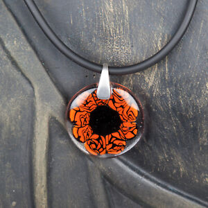 Glasschmuck Glas Anhänger Geschenk Blume rot echtes Muranoglas G017 Unikat