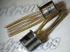 DN259  transistor  Siliconix  metal can  golden leads  collectible part