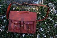 18+ Adult Leather Vintage Messenger Shoulder Bag Satchel Sling Laptop Briefcase