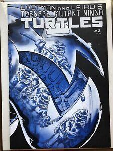 TEENAGE MUTANT NINJA TURTLES #2 1985 Comic Second Printing Mirage April O'Neil