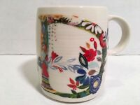 Anthropologie Coffee Mug Cup Letter D Starla M Halfmann Floral Tea Botanical