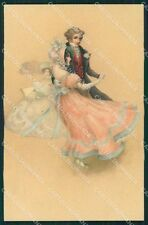 Dancing Couple Dondorf serie 180 postcard cartolina QT6372
