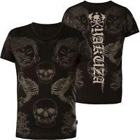 YAKUZA T-Shirt Burnout Temple TSB-13035 Black Schwarz T-Shirts