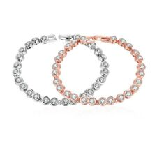 18K Rose Gold Tone  Design Tennis Bracelet