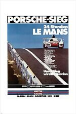 LE MANS vintage car poster 1976 FIRST RATE DESIGN rare 24X36