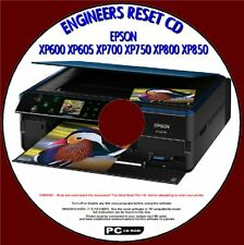 EPSON XP600, XP605, XP700,XP750,XP850 WASTE INK PAD SATURATED ERROR RESET CD NEW