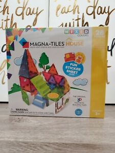 New MAGNA-TILES House 28 Piece Set Mixed Colors Sets are Compatible