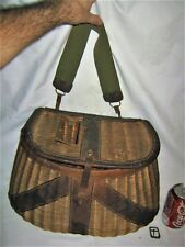 ANTIQUE PRIMITIVE COUNTRY CABIN SPORT ART SAMPY WILLOW FISHING CREEL BASKET LURE